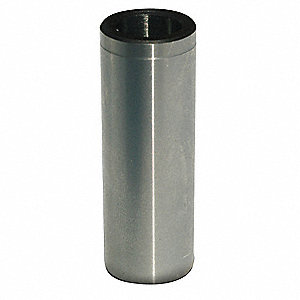 "Headless Press Fit Drill Bushing, 0.098"", I.D. 1/4"", O.D., #40: Drill Size"