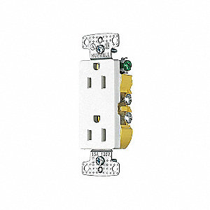 RECEPTACLE DECORATOR WHITE