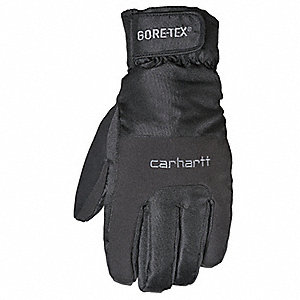 Cold Protection Gloves, Microfiber Lining, Shirred Cuff, Black, L, PR 1