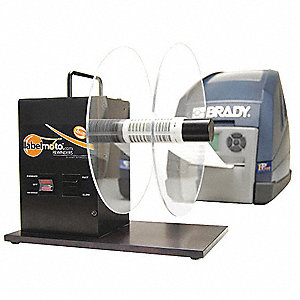 Electric Label Rewinder, Black, Anodized Aluminum