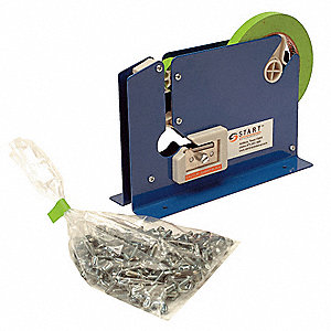 "Metal Manual Bag Sealer; 3/8"" Tape Width"