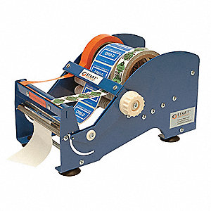 Multi Roll Tape And Label Dispenser, Steel and Plastic, Blue