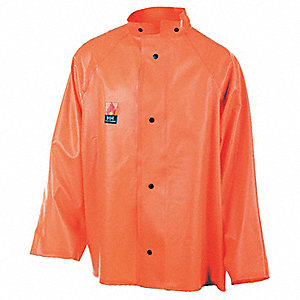 JACKET RAIN TOP DECK ORANGE LGE