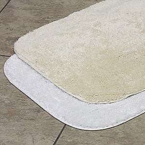 "34"" x 21"" Oxford Nylon Bath Rug, Champagne"