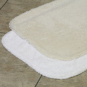 "24"" x 17"" Essence Cotton Bath Rug, Champagne"