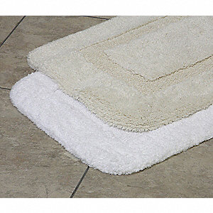 "36"" x 24"" Elite Loop Cotton Bath Rug, White"