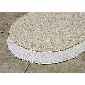"34"" x 21"" Prominence Cotton Bath Rug, White"
