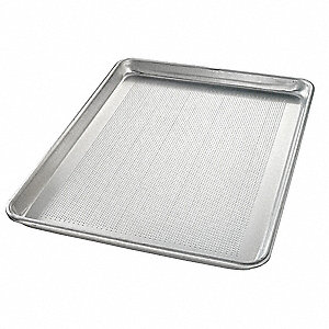 "Sheet Pan, 18"" W x 13"" L x 1"" D Perforated Aluminum"