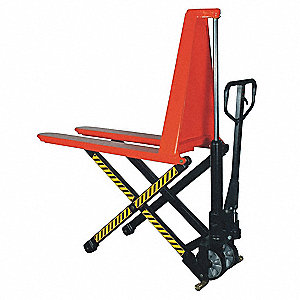 "Pallet Lifter, 3000 lb. Load Capacity, 31-1/2""Fork Height Raised, 3-3/8"" Fork Height Lowered"
