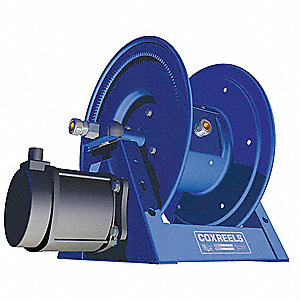 Blue Motor Driven Cord Reel, Cord Ending: None, Not Included Cord Length