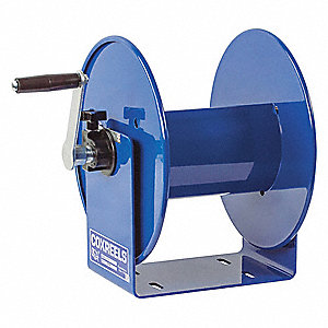 Heavy Industrial Hand Wind Cord Reel&#x3b; Number of Outlets: 0, Cord Included: No