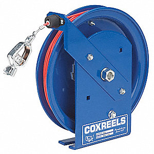 50 ft. Spring Retractable Cable Reel, Blue