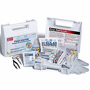First Aid Kit,Bulk,White,106 Pcs,25 Ppl
