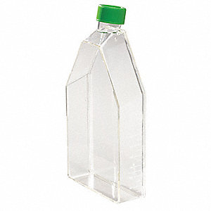 600mL Plastic Suspension Culture Flask, Clear, Height: 40mm, 40 PK