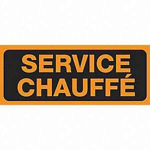LABELS 2X5 500/RL SERVICE CHAUFFE