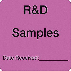 LABELS 3X3 1000/RL R+D SAMPLES DATE