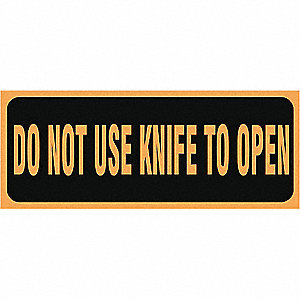 LABELS 2X5 500/RL DO NOT USE KNIFE