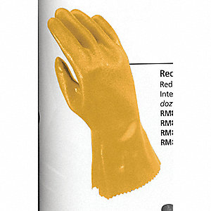 GLOVES LINED PVC 12IN YELLOW