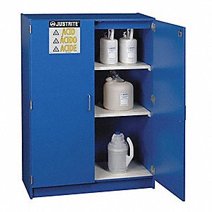SAFETY CABINET, WOOD, BLUE, 2  DOORS