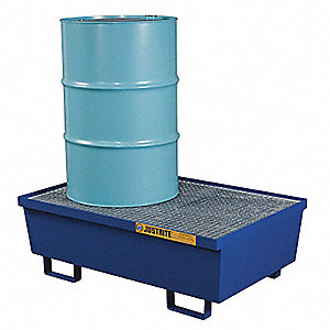 PALLET SPILL CONTAINMNT 2 DRUM BLUE