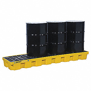PALLET SPILL 4 DRUM IN LINE YELLOW