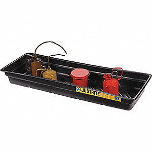 SPILL TRAY,46 X 16 X 5.5IN,POLY,BLK
