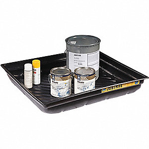 SPILL TRAY,37.75 X 34 X 5.5IN,POLY,BLK