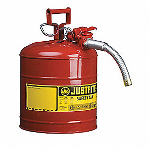 TYPE II SAFETY CAN, 2 GAL, 5/8 HOSE, RED
