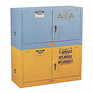 PIGGYBACK SAFETY CABINET, 12 GAL, BLUE