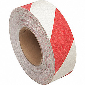 TAPE NONSLIP ROLL RED/WHITE 2X60FT