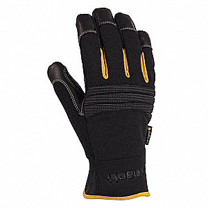 Cold Protection Gloves, Polyester Lining, Neoprene Cuff, Black, S, PR 1