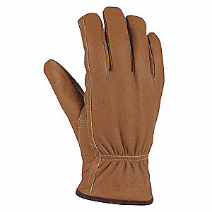 Cold Protection Gloves, Polyester Lining, Shirred Cuff, Brown, 2XL, PR 1