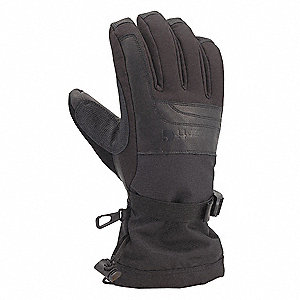 Cold Protection Gloves, Fleece Lining, Gauntlet Cuff, Black, XL, PR 1