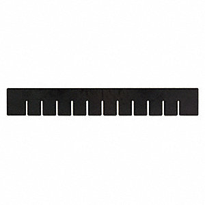 "Divider, Black, Copolymer Polypropylene, 22-1/2"" Length, 17-1/2"" Height"