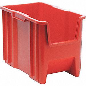 STACK BIN,12.5X10.8X17.5,RED