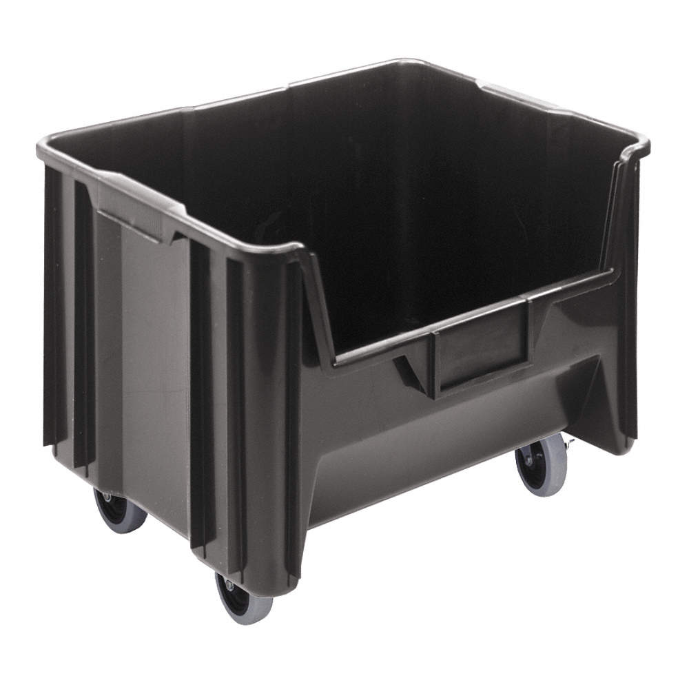 Mobile Hopper Bin, Black, 15-13/16