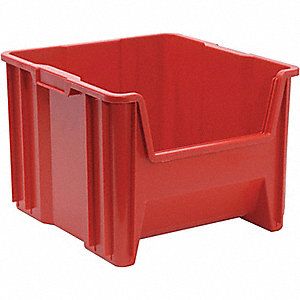 STACK BIN,12.5X16.5X17.5,RED