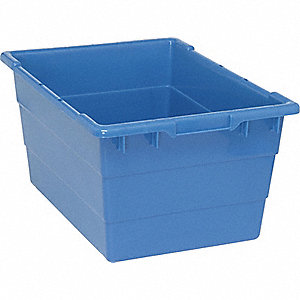 TOTE,STACKING,12X17.25X24,BLUE