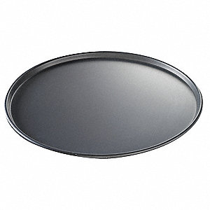 "16"" Dia. x 1/2"" D Hard Coat Anodized Aluminum Thin Crust Pizza Pan"