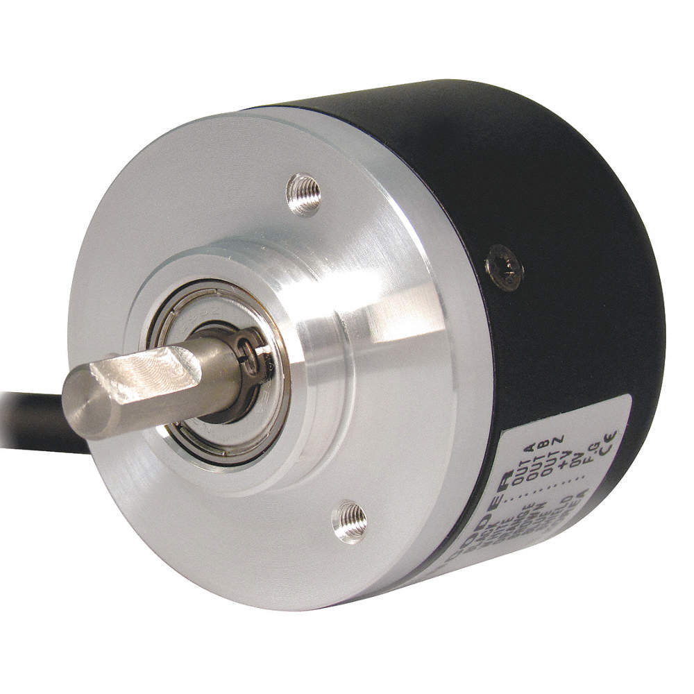 NPN Open Collector Output Type, Encoder, Shaft,Shaft Dia , 100 Pulses per  Revolution