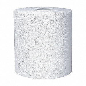 TOWELS HARD ROLL WH 1-PLY 425/RL 12/CS
