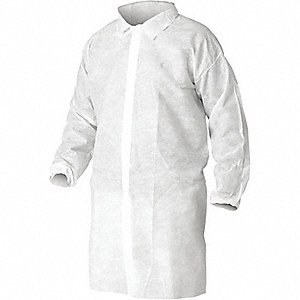 COAT LAB ELAST WRIST WHITE XL