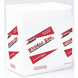 TOWELS WYPALL X80 1/4 FOLD PK 4PKCA