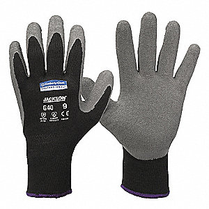 GLOVES LATEX CTD G40 GY/BLK SMALL