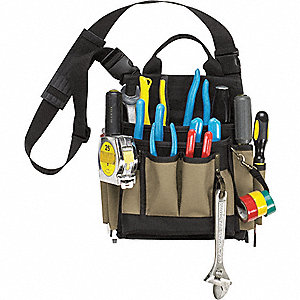 POUCH TOOL 10 PCKT ELECTRICIAN/MNT