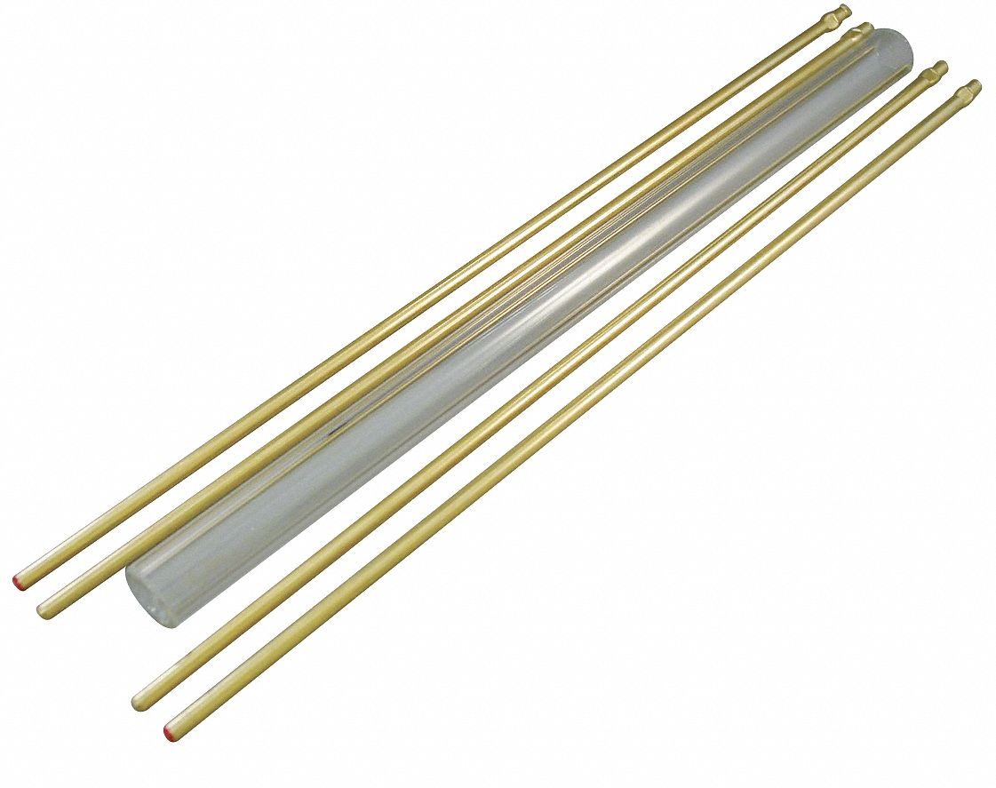 10 in Plain Glass Rod Kit, 5/8 in Glass Tube O.D.