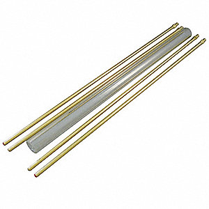 "24"" Plain Glass Rod Kit, 3/4"" Glass Tube O.D."