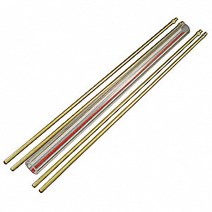 Glass Rod Kit,Red Line,5/8In Dia,15In L