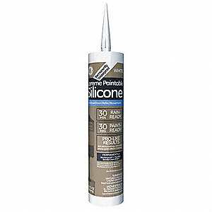 White Sealant, Silicone, 10.1 oz. Cartridge