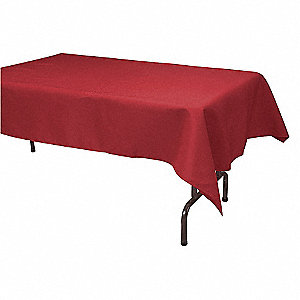 "96"" x 52"" Rectangle Visa© Tablecloth, Red&#x3b; PK1"